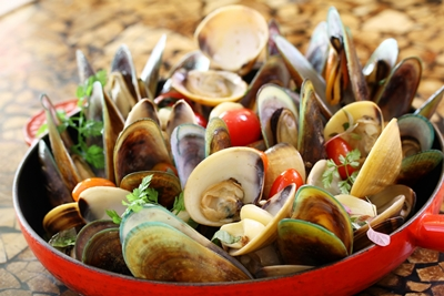 Clams & Mussels.
