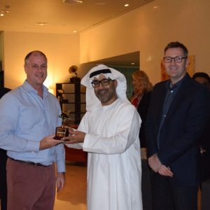 General Manager Glenn Nobbs awarded by Mr Ali and the gentleman standing next Mr David Todd - VP Operations