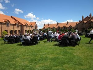 Group Dining on the Village Green, Grand Mercure Nelson