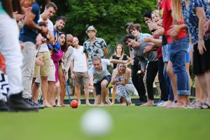 """MELBOURNE, AUSTRALIA - MARCH 01: Fun, excitement and the social side of bowling is seen on the bowling green on March 1, 2016 in Melbourne, Australia. (Photo by Michael Dodge/Getty Images)"""