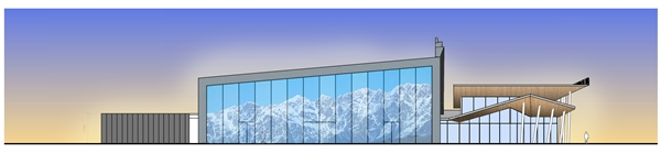 Remarkables Park planned Convention_Centre_SW_Elevation_1605132