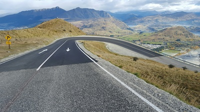 Sealing work on The Remarkables road has included improvements made to k...
