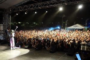 The Guam Live crowd and Pia Mia