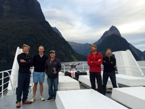 The team producing Southern Discoveries' VR project (L to R) Jack English, Bazz Deans, Tony Young, Joe Allen, Peter Houston