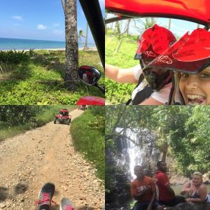 TravelManagers' personal travel manager Denielle Rooney enjoys some off-roading adventure on the Coral Coast