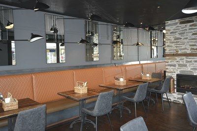 A stunning new interior is warm and welcoming for visitors to Evoque cafe