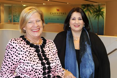 Carnival Australia Executive Chairman Ann Sherry with Director Institute CEO Kylie Hammond