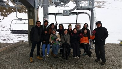 Chinese Inbound Agents on Porters' Easy Rider Chairlift_18 June