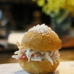 Crab Donuts with Coral Crust L