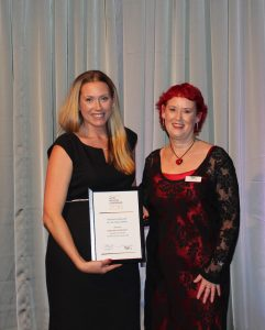 Deborah Kennedy (L) and Sally Atfield NZHIC Awards 2016