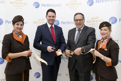 Etihad Airways Ribbon Cutting_