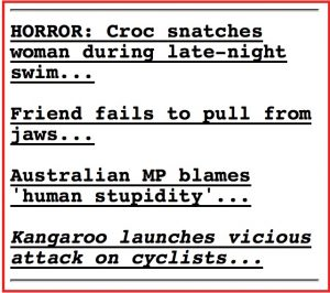 Headlines on America's enormously popular Drudge Report news site yesterday
