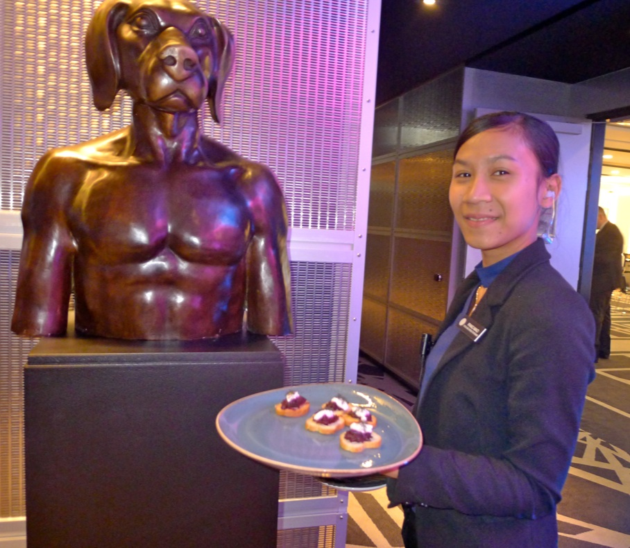 Hotel staffer Pang Mao and friend