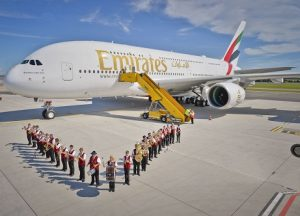 Image-1---Emirates_-A380-is-welcomed-to-Vienna_-Austria-by-a-local-marching-band