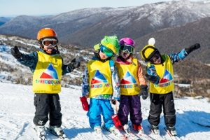 Kids Loving the Snow in Thredbo
