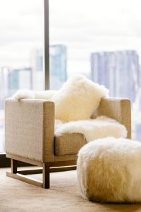 Lavish Ugg Australia products adorn both guest rooms