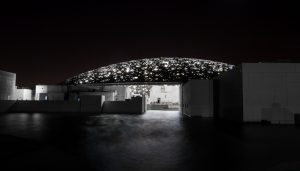 Louvre Abu Dhabi at night. © Abu Dhabi Tourism & Culture Authority, Architect  Ateliers Jean Nouvel