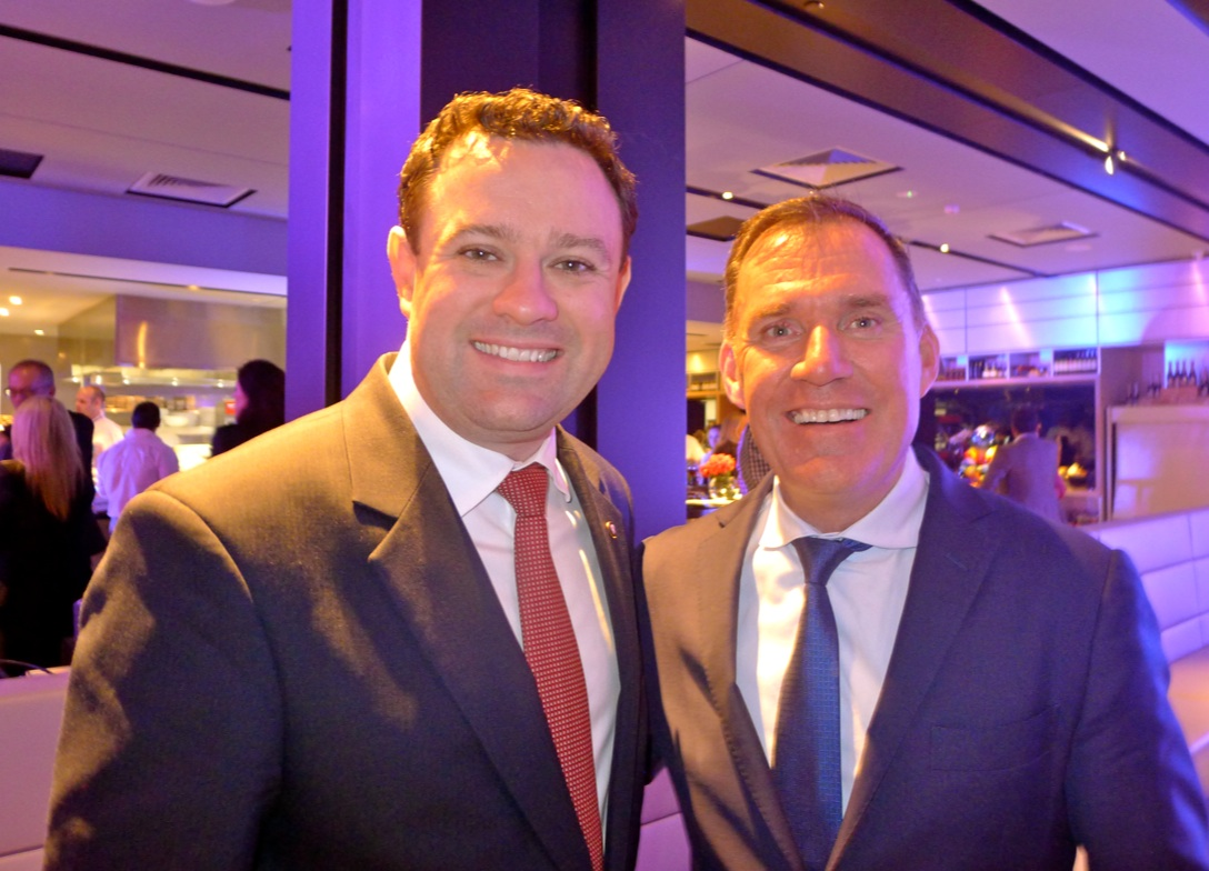 NSW Minister for Trade, Tourism and Major Events, Stuart Ayres with Accor Hotels chief operating officer Simon McGrath