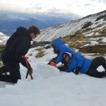 Operations Manager Sebastian Thomas starting to build an igloo, helped by Jean Li and Tracy Cui.jpeg