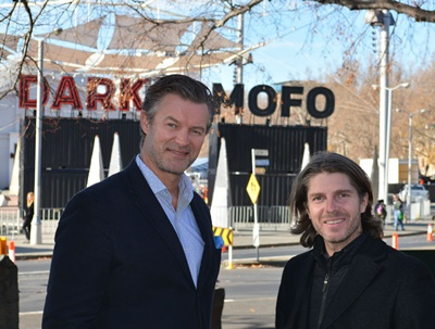 P&O President Sture Myrmell and Dark Mofo Creative Director Leigh Carmichael
