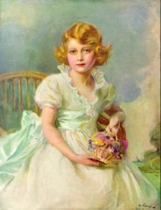 Princess Elizabeth aged seven, painted by Philip de László, 1933