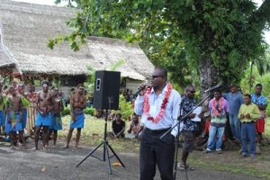 SOL -Hon Peter Chanel Ramohia welcomes SA Honiara-Auki flight resumption June 2016
