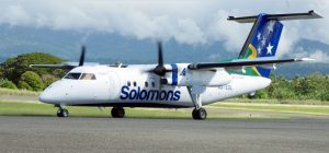 Solomon Airlines Dash 8 aircraft 'Megapode'