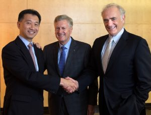 Star Alliance top team (from left), Jeffrey Goh, Mark Schwab and Chief Executive Board Chairman Calin Rovinescu.