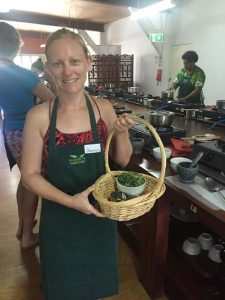 Personal travel manager Amanda Brady cooking up a storm at 'Flavours of Fiji' Cooking School