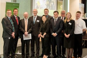 Speakers at the launch of the regional roadshow