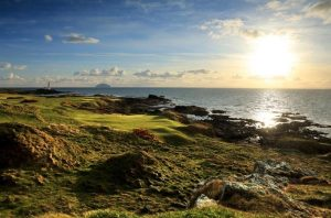 of the Ailsa Course at the Trump Turnberry Resort on April 27, 2016 in Turnberry, Scotland.