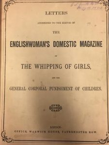 Englishwoman's magazine on the whipping of girls