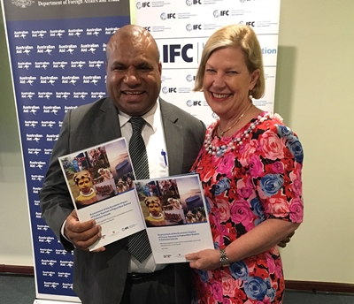 Ann Sherry and PNG Tourism Minister Tobias Kulang