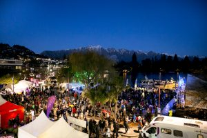 Earnslaw park filling up quickly for the American Express Queenstown Winter Festival Opening Party 2016