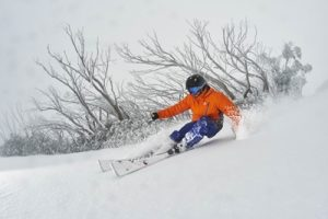 Josh Funnell gets powder turns in 20cm of fresh snow on Mt Buller - phot...