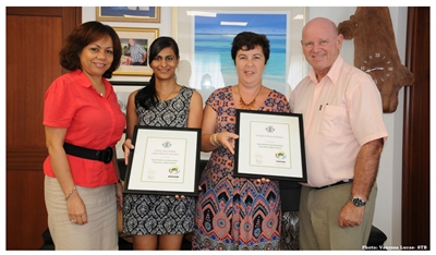 Presentation of SSTL Certificates  to Hilton Labriz Resort and Spa and C...