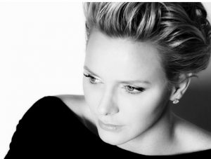 Princess Charlene of Monaco, the ship's godmother