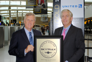 Star Alliance CEO Mark Schwab accepts Best Airline Alliance Award from Skytrax CEO Edward Plaisted _2016