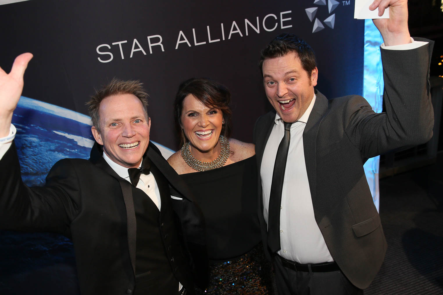 Star Alliance Scratch and Win_2_(L-R) Tim Clyde-Smith (SAA)_Vanessa Whitaker (Tripadeal)_David Cox (Intrepid Travel)