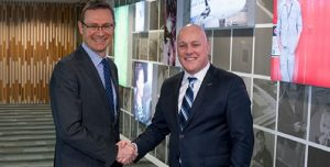 Tourism Australia Managing Director, John O'Sullivan and Chief Executive Officer Air New Zealand, Christopher Luxon.