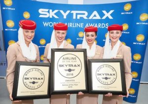 Skytrax winner Emirates at the 2016 awards