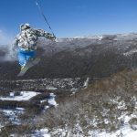 Skiing on Thredbo slopes, Snowy Mountains