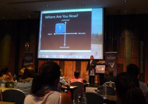 Gihan Perera puts question to TravelManagers conference
