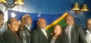 Solomon Islands delegation in Sydney yesterday