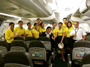 Flight Deck and Cabin Crew on duty during Baby Haven's delivery on August 14, 2016