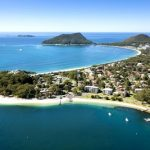 Aerial Photo Nelson Bay