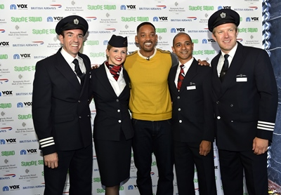 Image 1 - Will Smith Poses with British Airways Pilots and Crew following an exclusive Q&A session with the airline