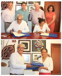 Mou signing between STB and CEO of the Seychelles Tourism Board and Azze...