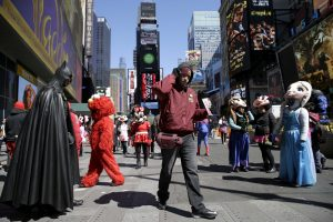 New York Times-Square-costumed-characters.CrainsNYBusinessReport