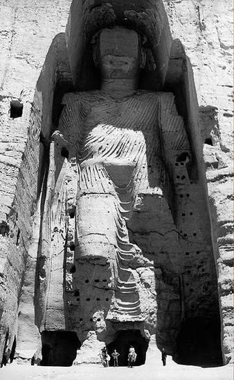 One of the Buddhas of Bamiyan. Afghanistan's prime historical tourist attraction before the Taliban blew them up in 2001